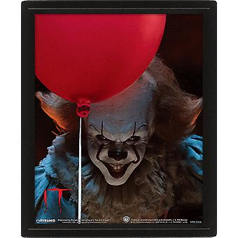 IT Framed 3D Picture Pennywise