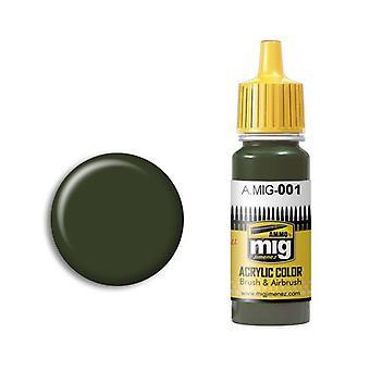 Ammo by Mig Acrylic Paint - A.MIG-0001 RAL 6003 Olivgrun Opt.1 (17ml)