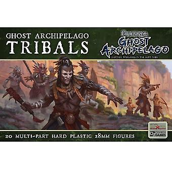 Ghost Archipelago Tribals - Twenty 28mm Scale Plastic Figures