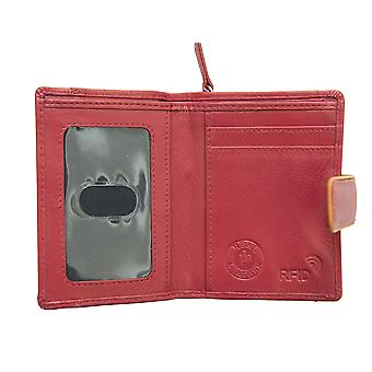 Primehide Small Womens Leather Purse Wallet RFID Blocking Card Holder 6712