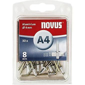 Novus 045-0024 Blind klinknagel (Ø x L) 4 x 8 mm Aluminium Aluminium 30 PC('s)