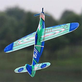 1pcs 19cm Plastic Hand Launch  Throwing Airplane Glider Plane - Model Outdoor Kid Toys