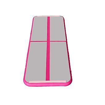 100x60x20CM Gymnastics Tumbling Mat+400W Inflator Pink