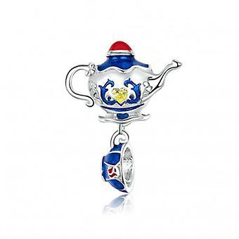 Sterling Silver Pendant Charm Magic Teapot - 6707