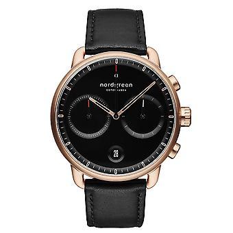 Nordgreen PI42RGLEBLBL Black Dial Rose Gold Tone Wristwatch