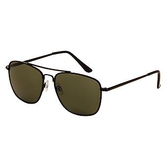 Sunglasses Unisex black with green lens (7180 P)