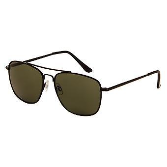 Gafas de sol Unisex negro con lente verde (7180 P)