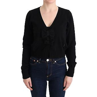 Black Wool Blouse Sweater SIG30150-2