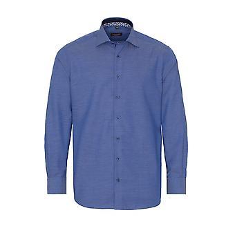 Eterna Casual Eterna Modern Fit Long Sleeved Shirt Mid Blue