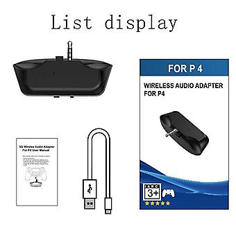 Mini Wireless Bluetooth V5 Audio Adapter Headphone Headset Earphone 3.5mm Receiver For Ps4 Controller Gamepad (b)