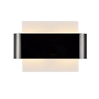 Flush Wall Light, 2 Light G9, valkoinen pohja mustalla kromi keskikaistalla