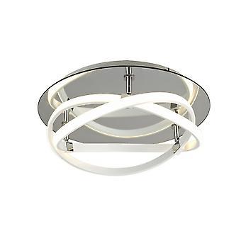 Inspireret mantra - Infinity WH - Flush Loft Lys 30W LED 3000K, 2500lm, hvid, hvid akryl