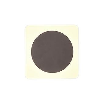 Luminosa Lighting - Magnetyczna lampa ścienna bazowa, 12W LED 3000K 498lm, 15cm Okrągłe 19cm Kwadratowe Centrum, Kawa, Akrylowy Matowy Dyfuzor