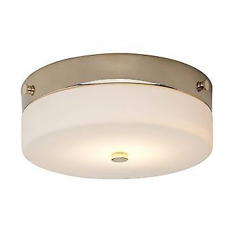1 ljus medium Flush Light-polerad guld