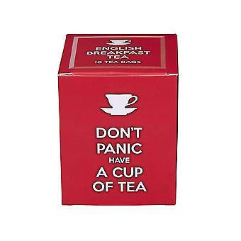 Don't panic have a cup of tea, 10 individually wrapped english breakfast teabags
