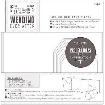ホワイトダイカットハート - 結婚式の後にペーパーマニアエバーブランクカード25 / Pkg