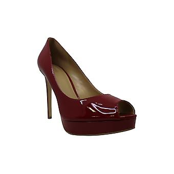 Michael Kors Womens Erika Leather Peep Toe Classic Pumps