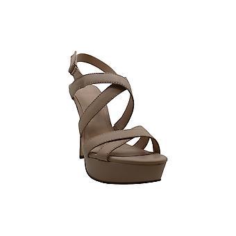 Gjett kvinner's sko Lexa skinn åpen tå spesiell anledning strappy sandaler