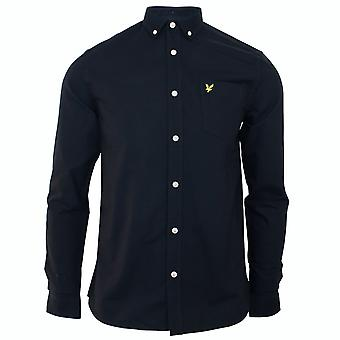 Lyle & scott men's dark navy oxford shirt