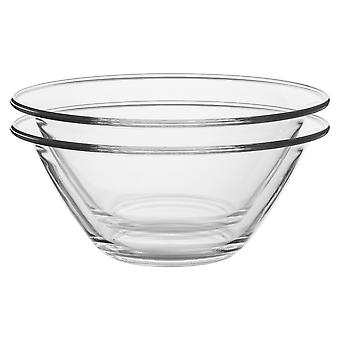 Bormioli Rocco 6pc Mr Chef Glass Nisting Mixing Bowl Set - Heavy Duty, Lave-vaisselle et micro-ondes - 4L