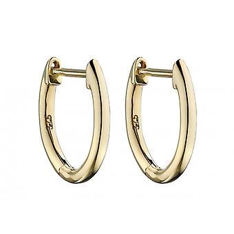 Elements Gold 9ct Plain Gold Huggie 13mm Earrings GE2324