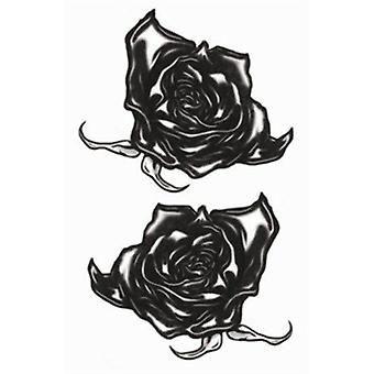 Tinsley Transfers Temporary Tattoo - Goth (Black Roses)