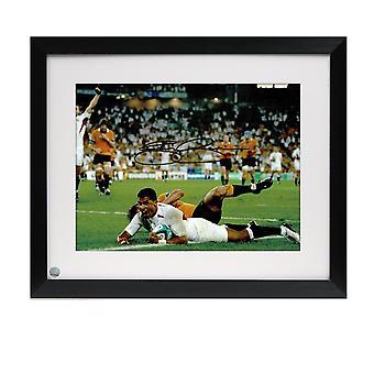 Jason Robinson unterschrieb England Foto: 2003 Rugby-Wm-Sieger. Gerahmt