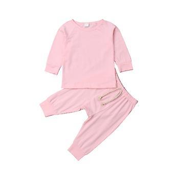 0-24m Vastasyntynyt pikkulapsi Vauva Puuvilla Pitkähihainen Pyjama Set Sleepwear