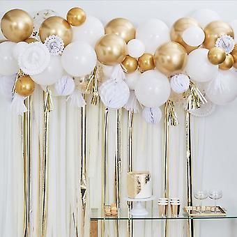 Gold Streamer Balloon Garland Party Backdrop Kit 80 Balloons