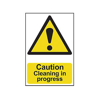 Scan Caution Cleaning In Progress - PVC 200 x 300mm SCA1114
