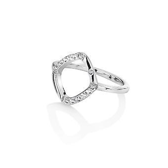 Hot Diamonds Sterling Zilver Aanschouw witte Topaz Ring