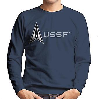 U.S. Space Force Lighter Logo Alongside USSF Text Men's Sweatshirt
