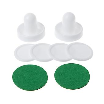 Air Hockey Accessories- 50mm Goalies & 60mm Puck Felt Pusher Mallet, Adult