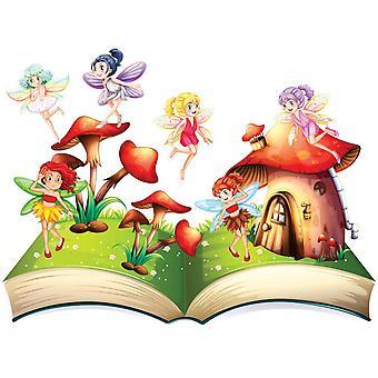 Photo wall mural fairies and the mushroom house