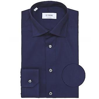 Camisa de sarga de forma contemporánea de Eton
