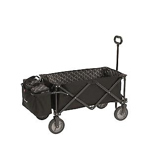Outwell black maya transporter and folding basket trolley