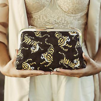 Sumatran Tiger Printed, Handcrafted Clutch