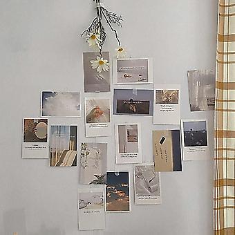 Conjunto de cartões de decoração de fotos, 30 folhas de arte fotografia props collocation cartão postal