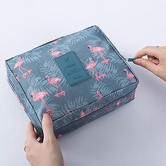 Waterproof Portable Zipper Cosmetic Bag, Dot Beauty Case Make Up Tas Purse,