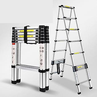 Double Multi-function Aluminum Alloy Portable Telescopic Ladder