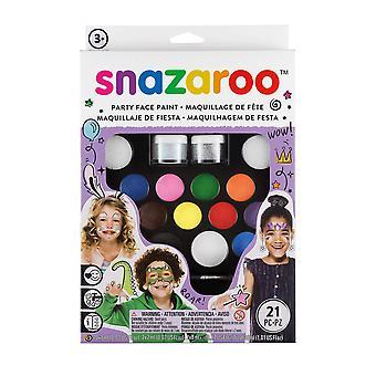 Snazaroo 1180100 ultimate party pack, multicoloured original packaging