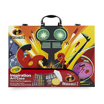 Crayola disney the incredible 2case for colouring and drawing, gift for gaming and, artist–a
