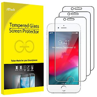 Jetech 3-pack screen protector for apple iphone se 2020, iphone 8, iphone 7, iphone 6s, and iphone 6