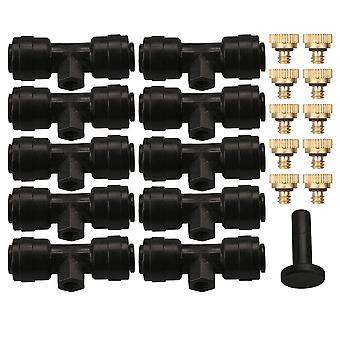 1/4 Size Low Pressure Irrigation System Brass Misting Nozzles Set of 10