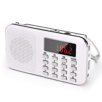 Portable Fm Radio, Rechargeable Receiver With Tf Card