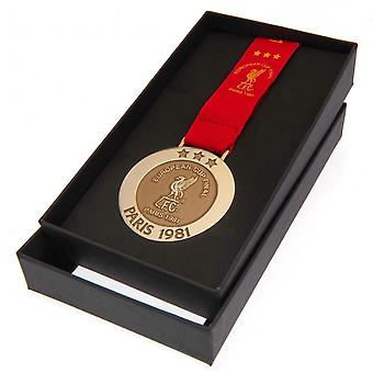 ليفربول FC باريس 81 ميدالية النسخة المتماثلة