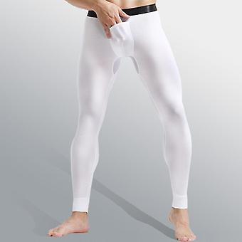 Hommes Sexy Stretch Breathe Thermal Bullet Legging Separation Slim Long Pants