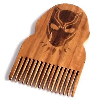 Black Panther Wooden Beard Comb