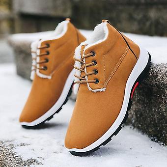 Winter, Snow Comfortable Warm Ankle Boots, Wear-resistant Cotton Shoes & Velvet