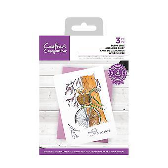 Crafter & apos; s Companion tydliga frimärken Valp Love